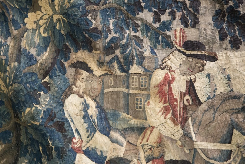 FLEMISH BAROQUE HUNTING TAPESTRY - 6