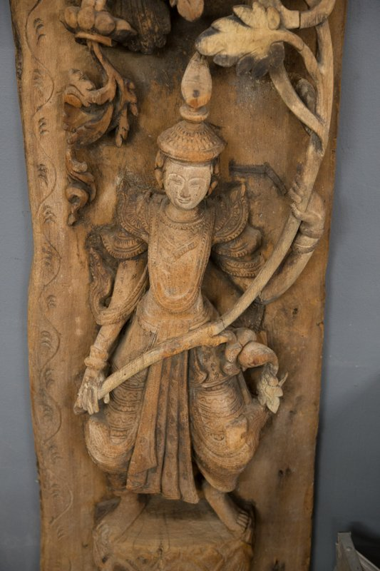 PAIR OF BURMESE SHRINE SIDE PANELS - 4