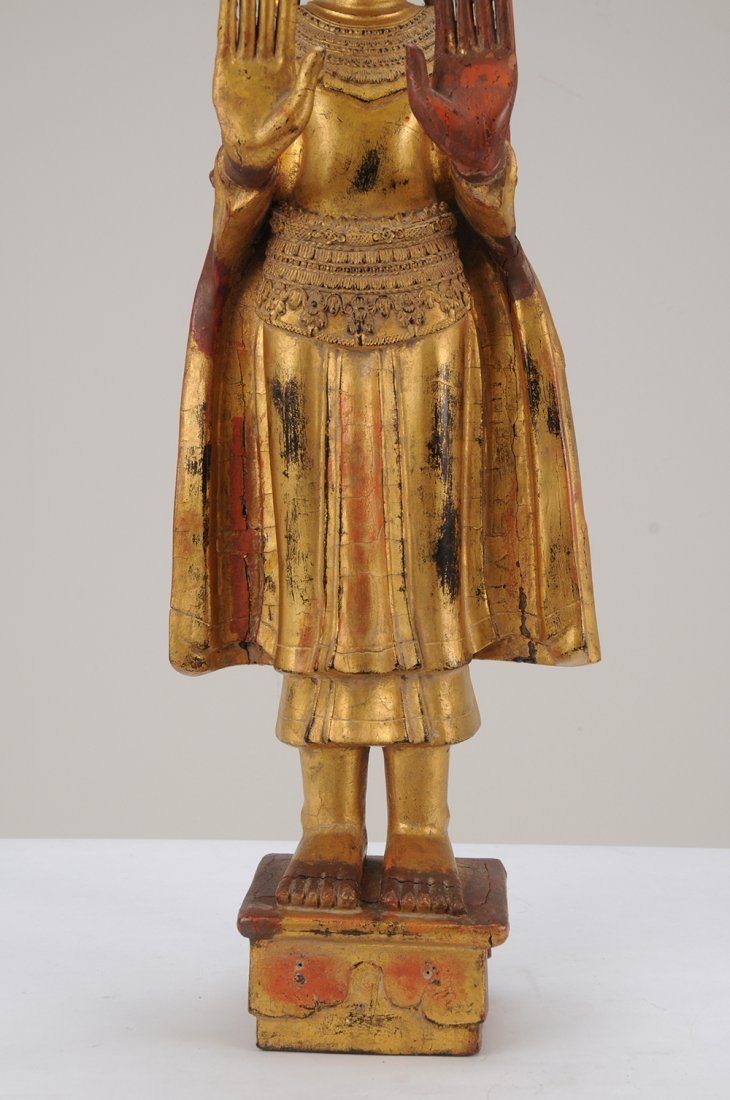 THAI CARVED WOOD BUDDHA - 10