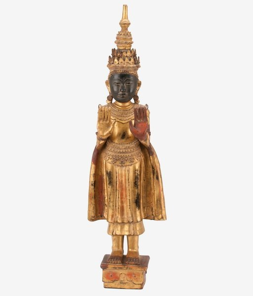 THAI CARVED WOOD BUDDHA