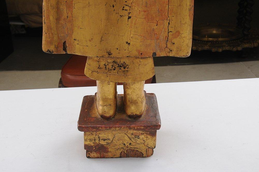 THAI CARVED WOOD BUDDHA - 3