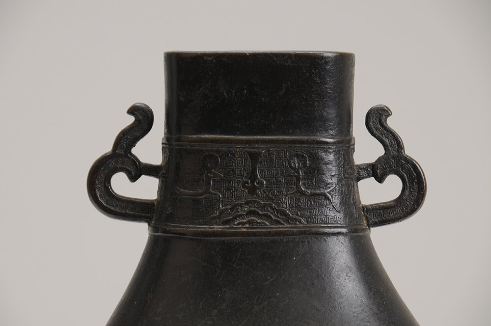CHINESE ARCHAIC STYLE BRONZE VESSEL - 7
