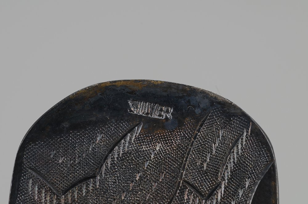CHINESE SILVER & JADE HAND MIRROR - 6