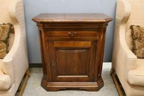 ITALIANATE STAINED WALNUT SIDE CABINET