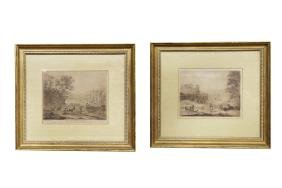 "AFTER CLAUDE LE LORRAIN: ""A PAIR OF FRAMED ENGRAVINGS"""