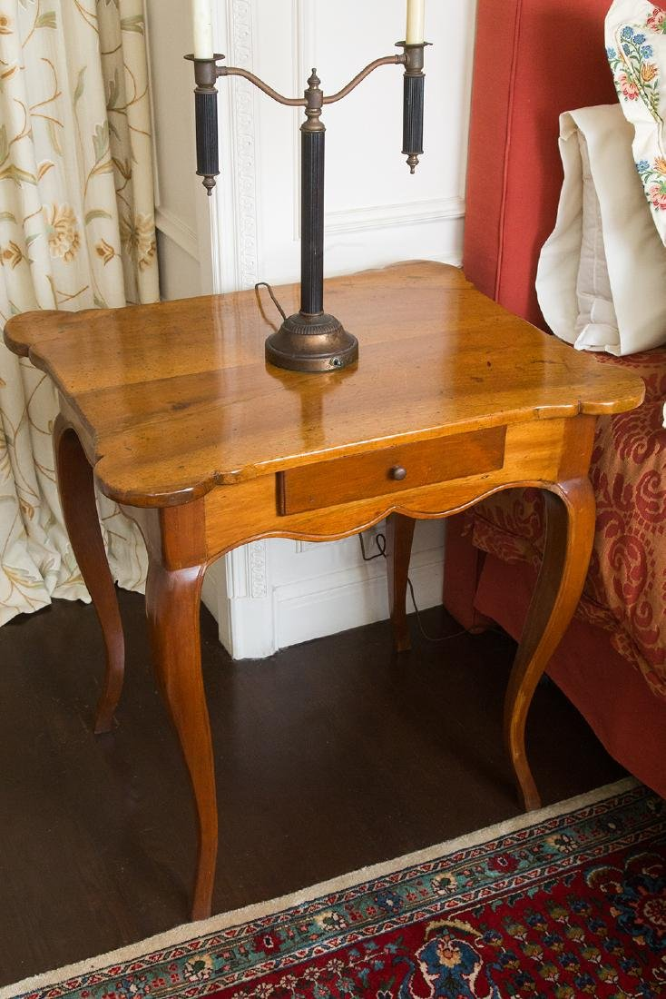 LOUIS XV PROVINCIAL FRUITWOOD TABLE