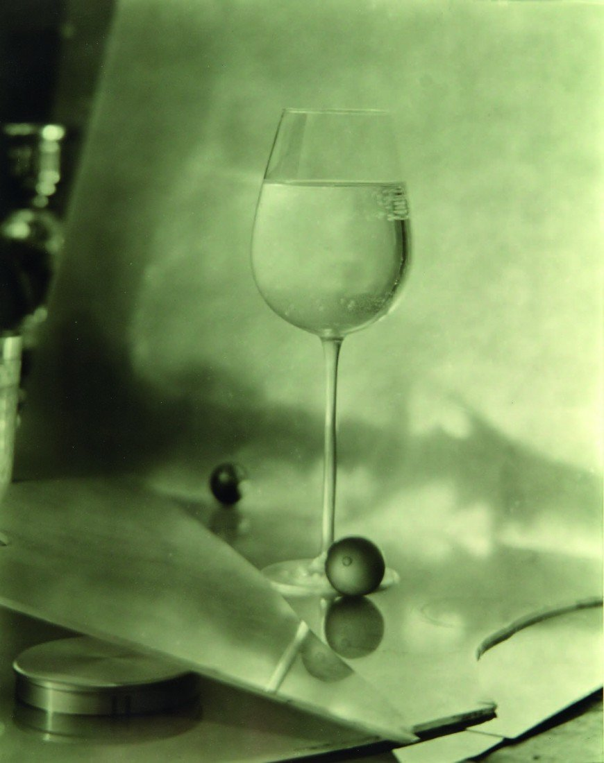 22: Josef Sudek,  Wine Glass and Olives