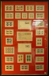 13: US Airmail Stamps, 1940s - 1960s