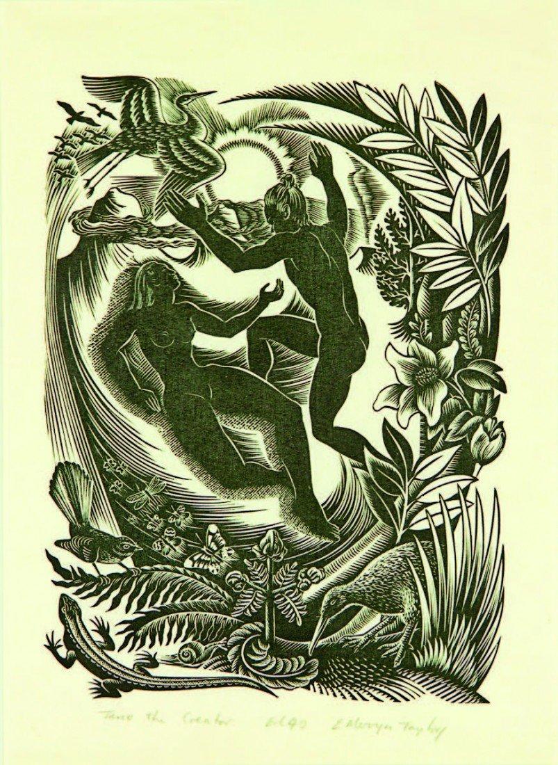 20: E. Mervyn Taylor, 'Tane the Creator'