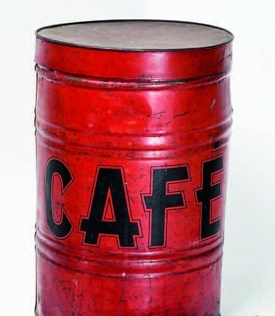 2: Vintage French cafe tin