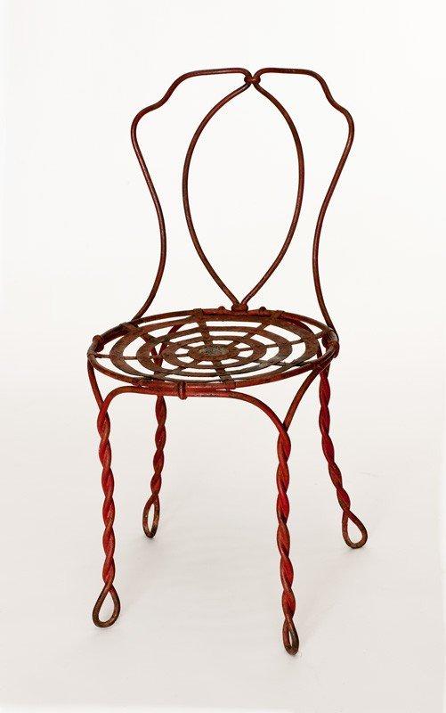5: Rare 19th century French wrought iron garden seat