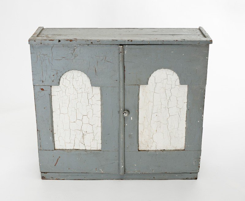 19: New Zealand colonial two-door painted cabinet