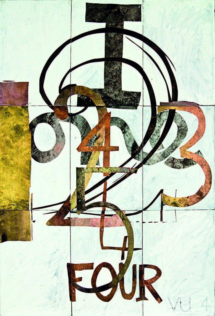 8: Imants Tillers, 'V. U 4'