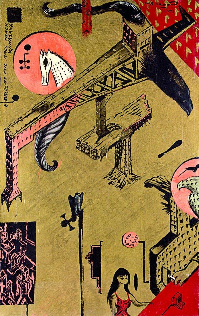 15: Bill Hammond, 'Eagles at the Racetrack, Kanazawa'