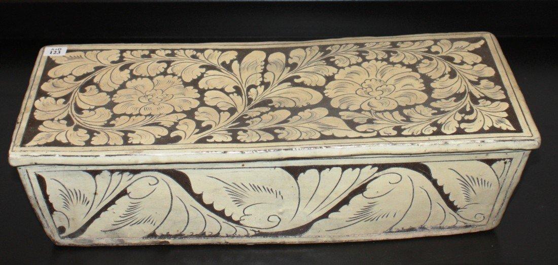 123: A Chinese Cizhou-style rectangular pillow