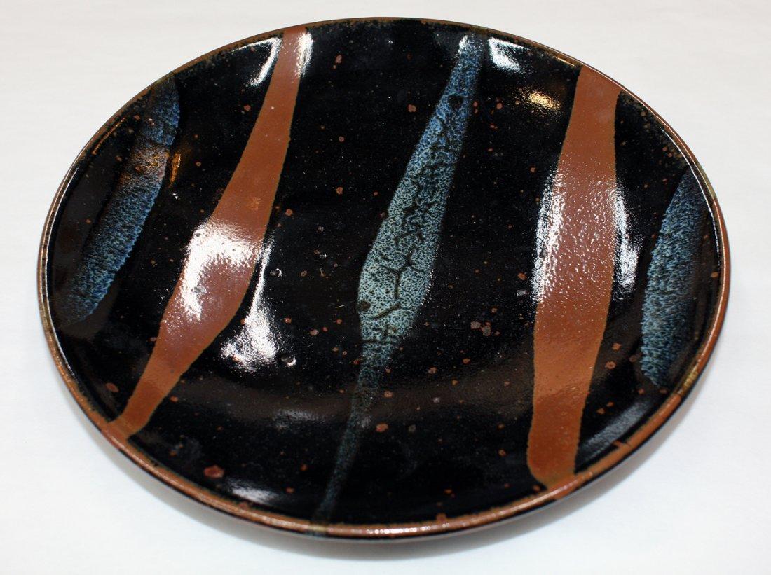 Japanese Mashiko pottery stoneware dish