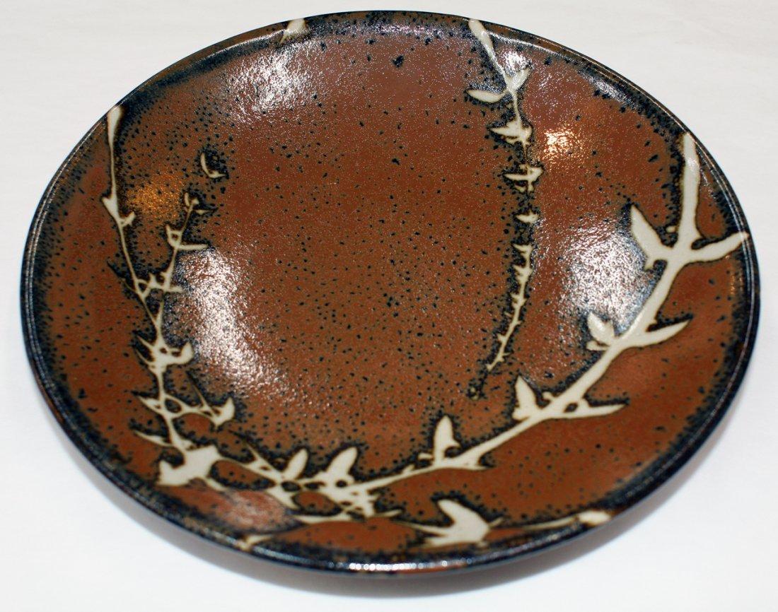 Japanese Mashiko pottery stoneware plate