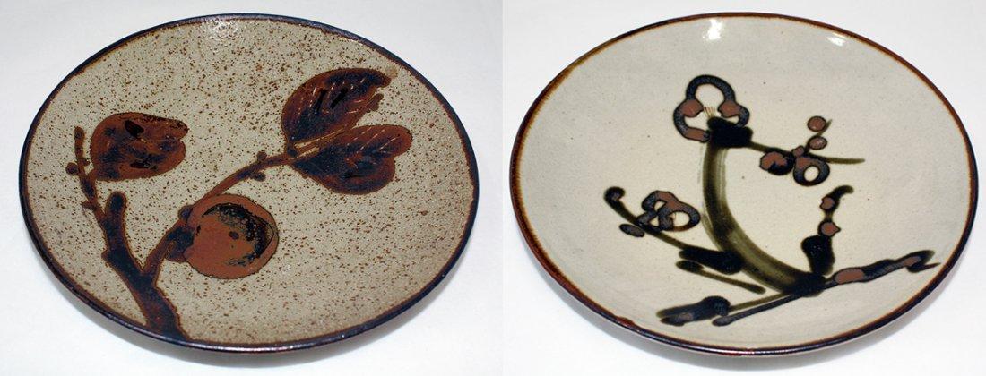 Japanese Mashiko pottery plate