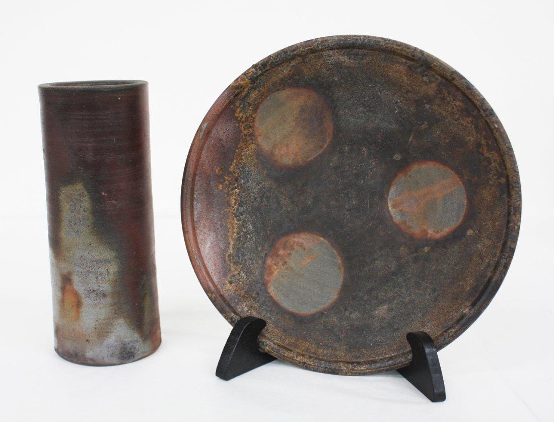 Japanese Bizen vase