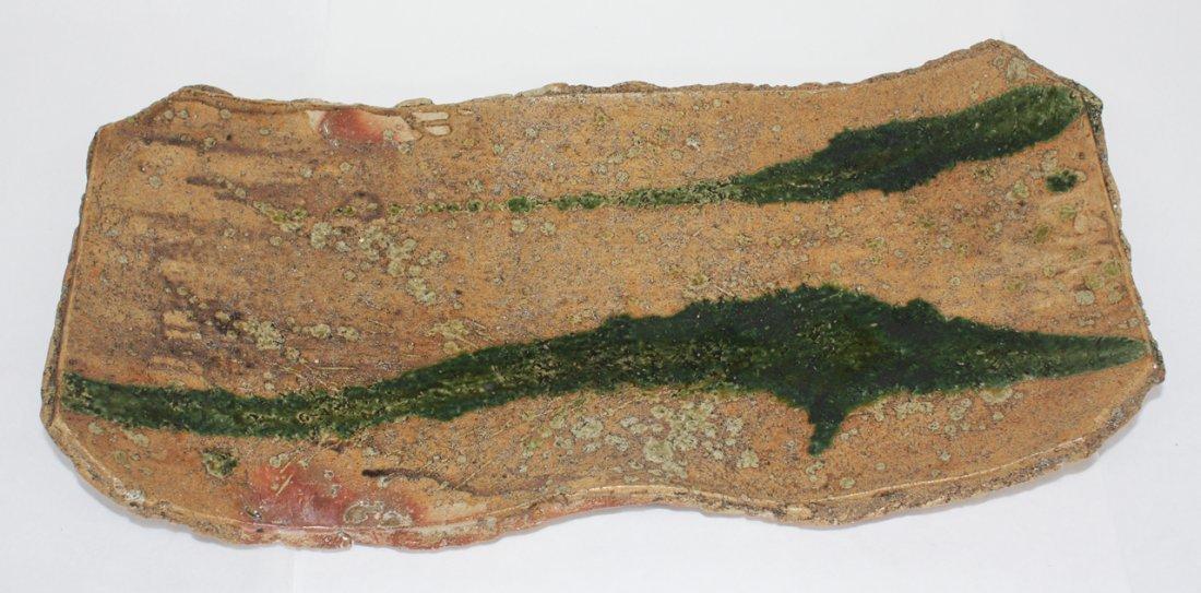 Large Japanese rectangular stoneware platter