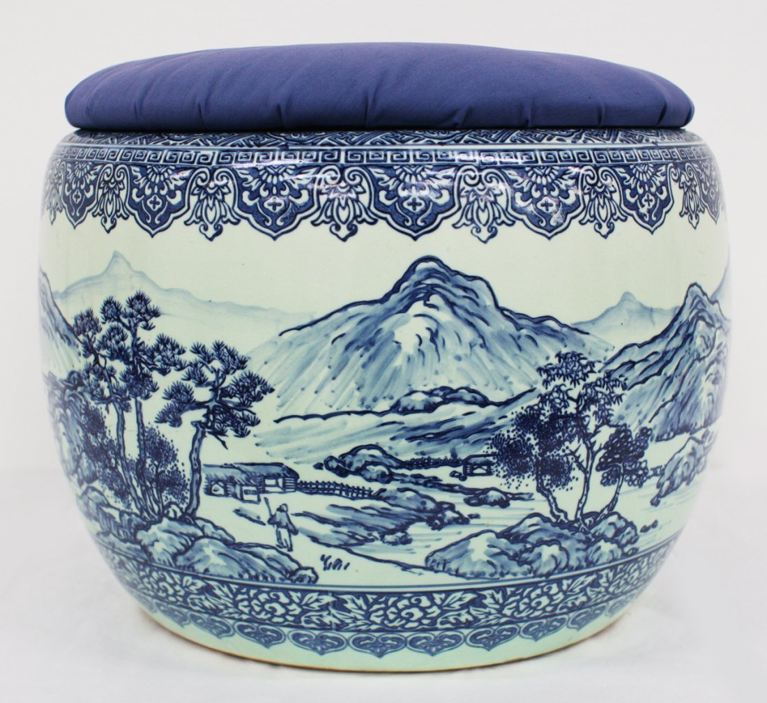 Japanese blue and white hibachi