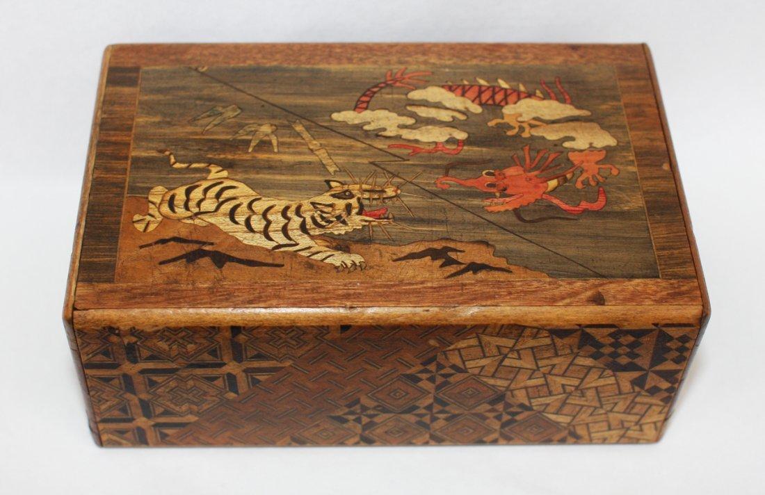 Japanese wood puzzle box