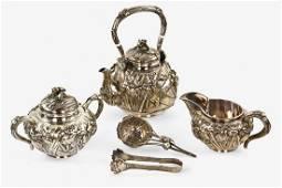 Japanese export silver tea service
