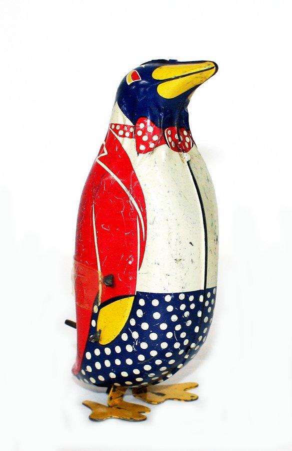 Penguin in red tuxedo