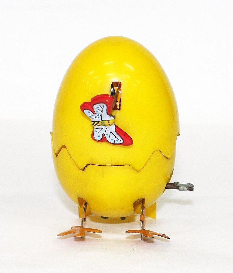 Hopping chick in egg