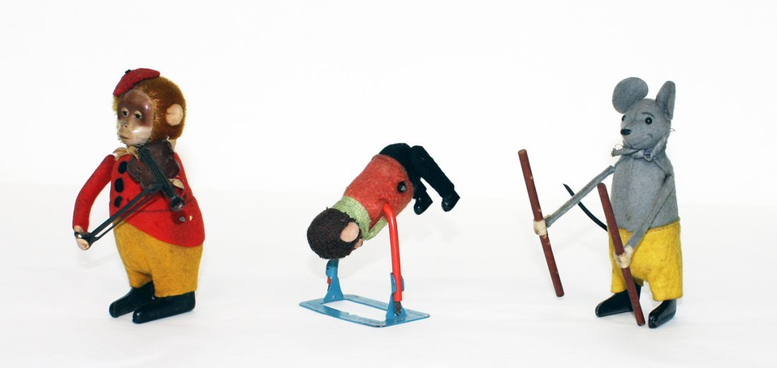 Shuco, 3 animal figurines