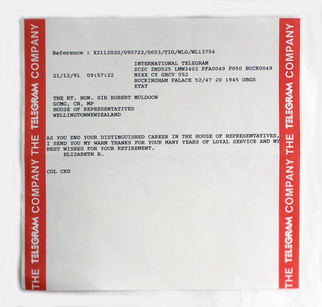TELEGRAM -, BUCKINGHAM PALACE
