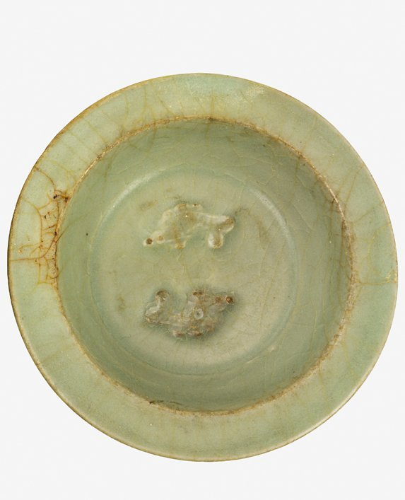 Small Chinese Longquan celadon dish