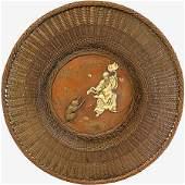 Japanese copper circular dish