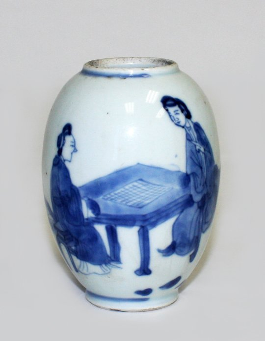 Small Chinese blue and white jar