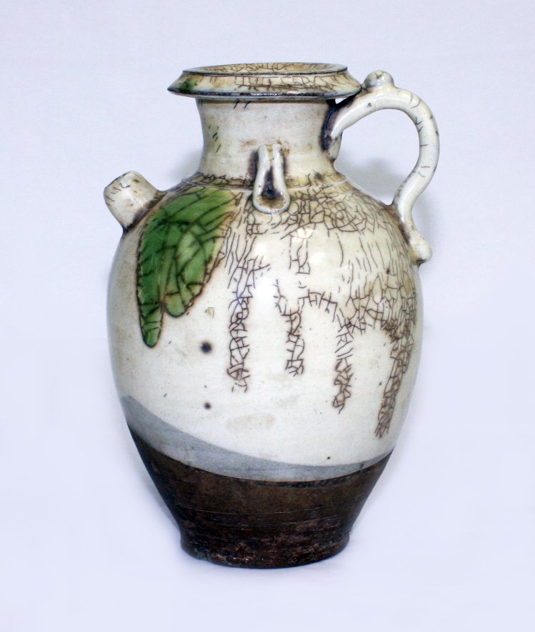 Chinese Tang-style pottery ewer
