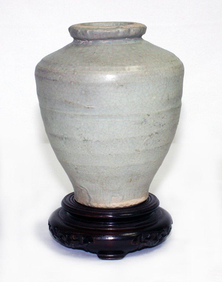 Chinese Ming provincial celadon vase