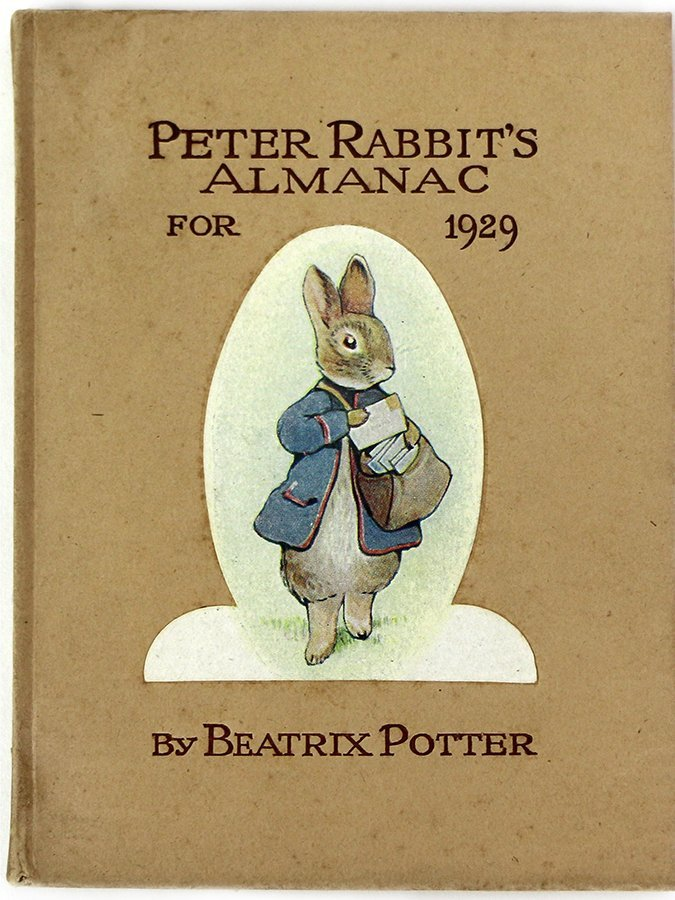 POTTER, BEATRIX, Peter Rabbit's Almanac for 1929