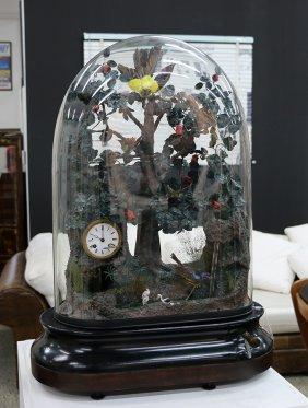 Rare French Glass Dome Singing Bird Automaton