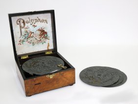 Small Polyphon 6½in Disc Music Box