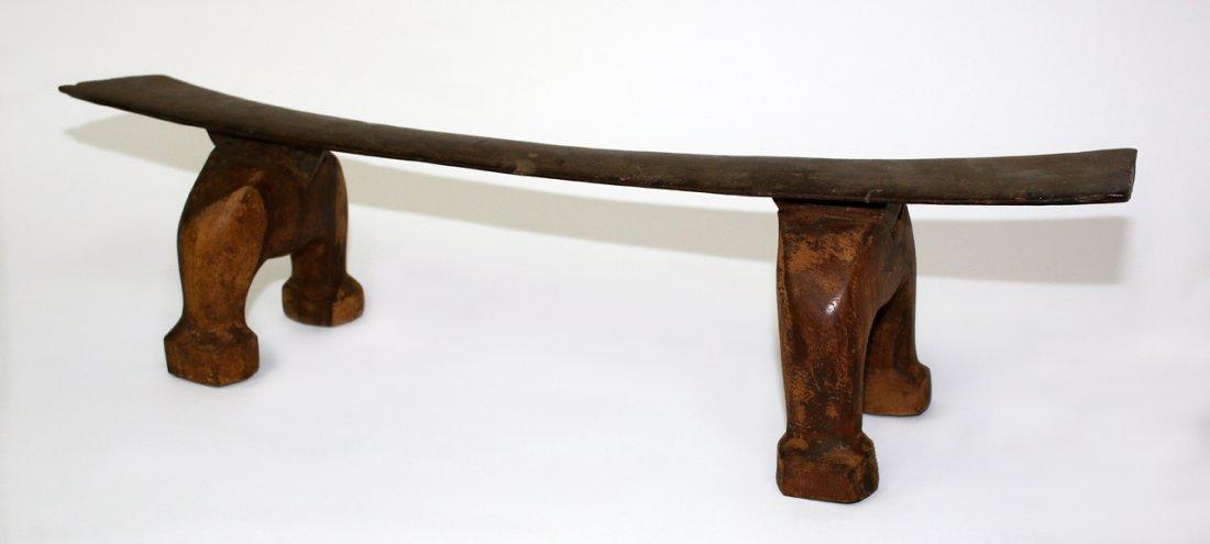 Tongan carved hardwood headrest