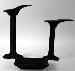 Three (3) Cast Iron Pieces, One (1) Flare Sided Sma
