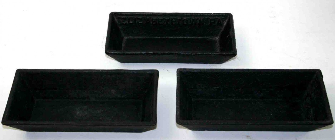 20: Grouping Of Three (3) Cast Iron Troughs, One (1) A.