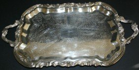 19: Ornate F.B. Rodgers Silver Co. silverplate handled