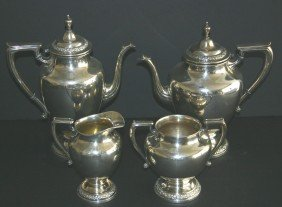 20: Four (4) piece Wallace sterling 365M coffee and tea