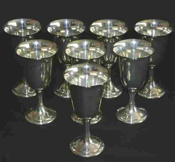 "Eight (8) Alvin sterling 52499 goblets. 6 1/2""H."