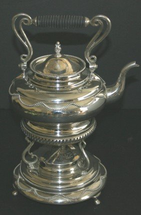 Elaborate F.B. Rodgers Silverplate Tea Pot With Bur