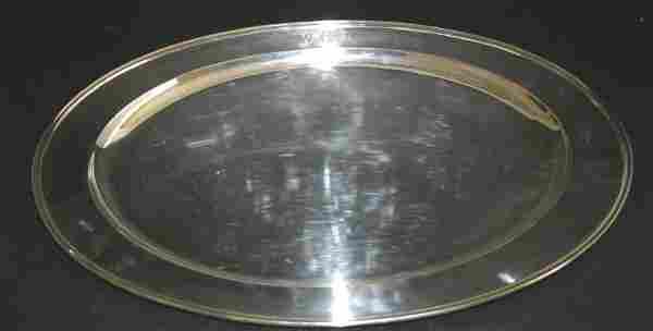Sterling oval serving platter. Presentation First