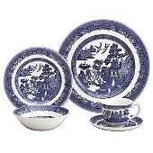 293: Forty-eight (48) piece Johnson Bros. china set, Bl
