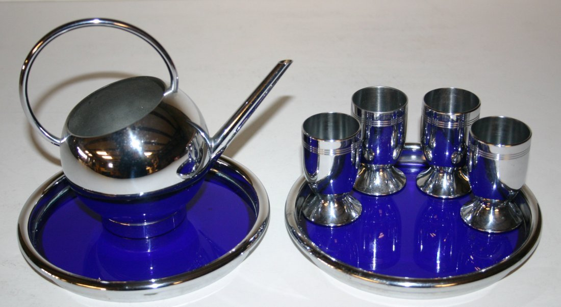 Chase Liqueur Set with Four (4) Cordials, Chase Pancake