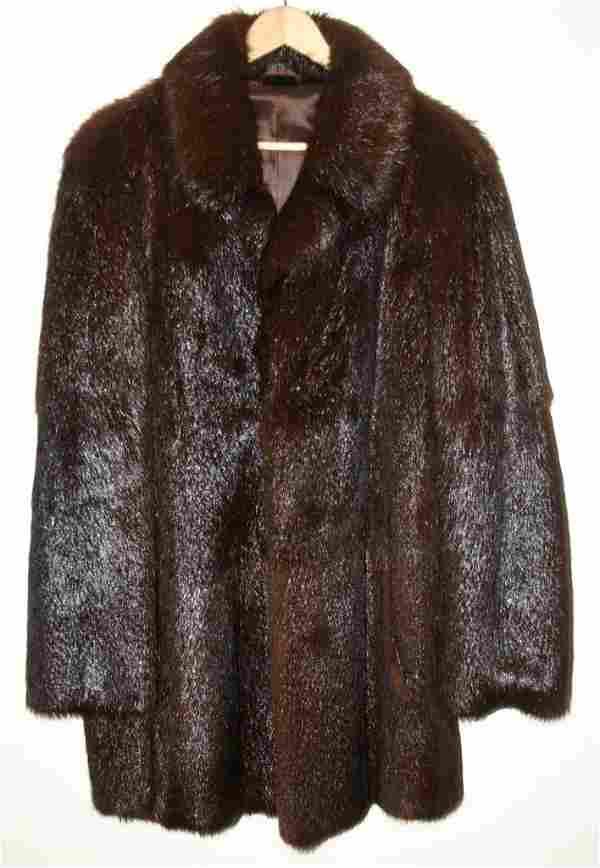Beaver Double Breasted Mens 3/4 Length Mens Coat.